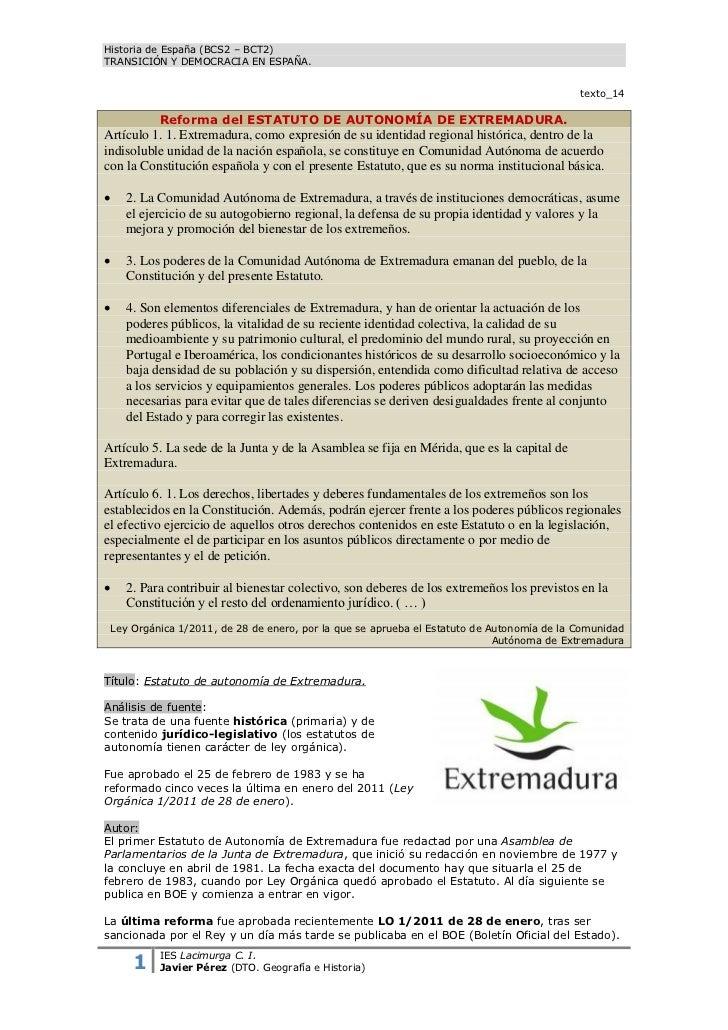 Historia de España (BCS2 – BCT2)TRANSICIÓN Y DEMOCRACIA EN ESPAÑA.                                                        ...