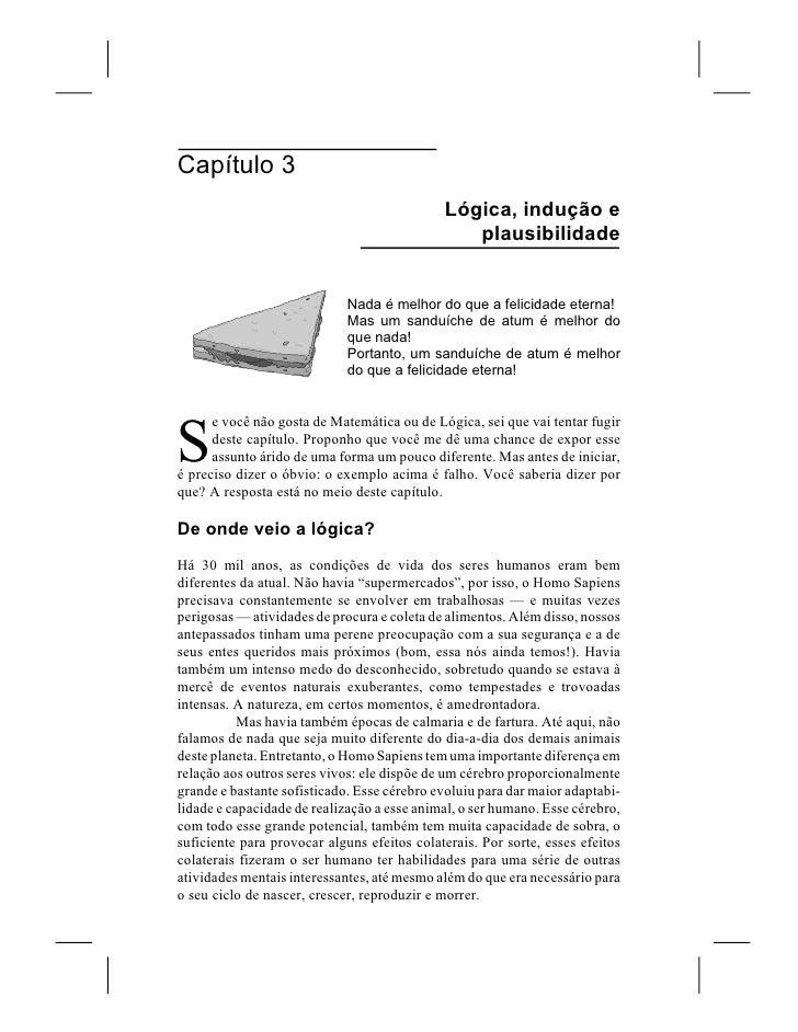 Capítulo 3                                              Lógica, indução e                                                 ...
