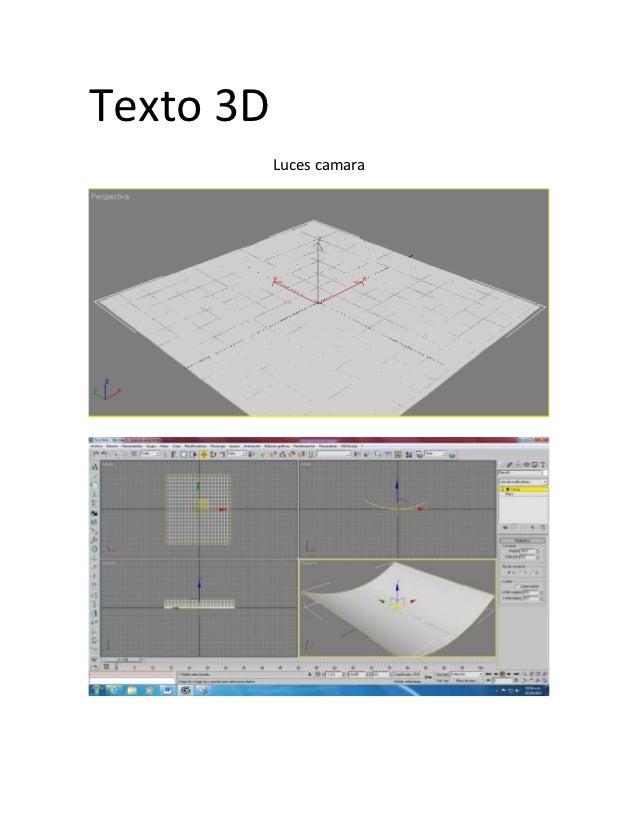 Texto 3D           Luces camara