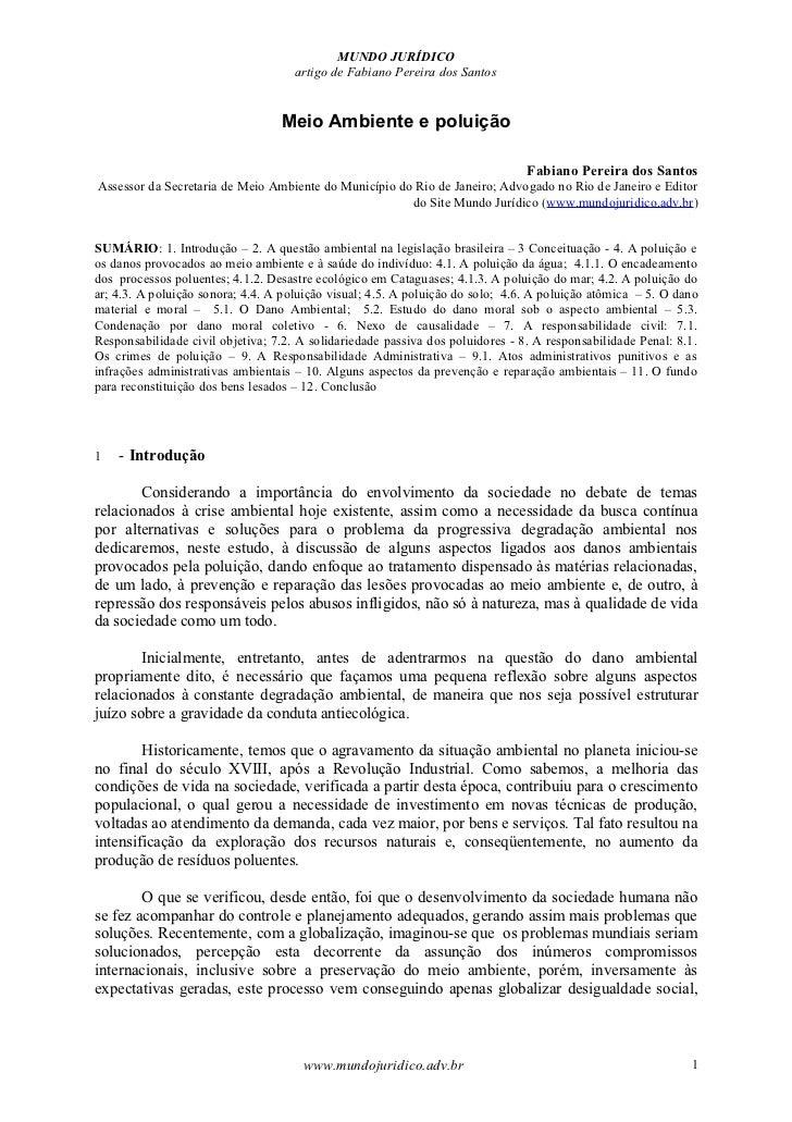 MUNDO JURÍDICO                                     artigo de Fabiano Pereira dos Santos                                  M...