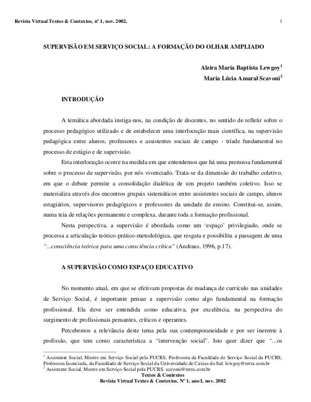 Revista Virtual Textos & Contextos, nº 1, nov. 2002. Textos & Contextos Revista Virtual Textos & Contextos. Nº 1, ano I, n...