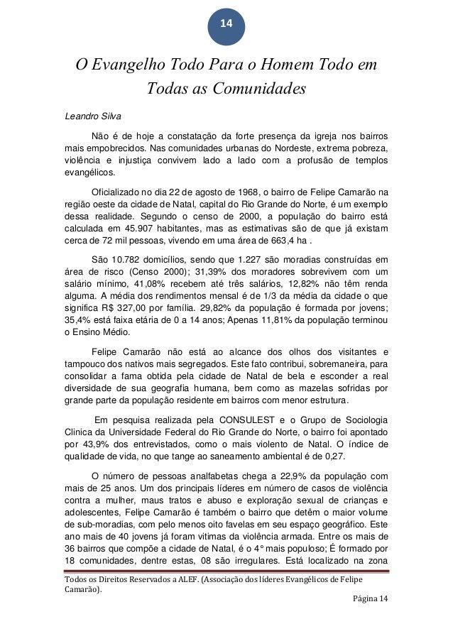 TEXTO BASE DO CONGRESSO DE MISSÃO INTEGRAL DA (ALEF