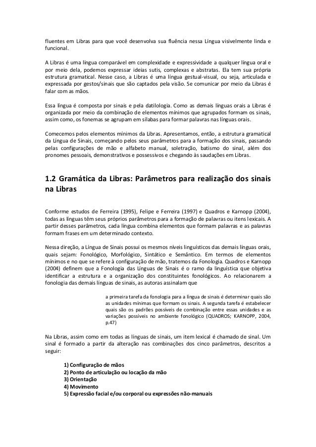 Fabuloso Texto basico -_aspectos_introdutorios_a_libras_-_unidade_ii MV41