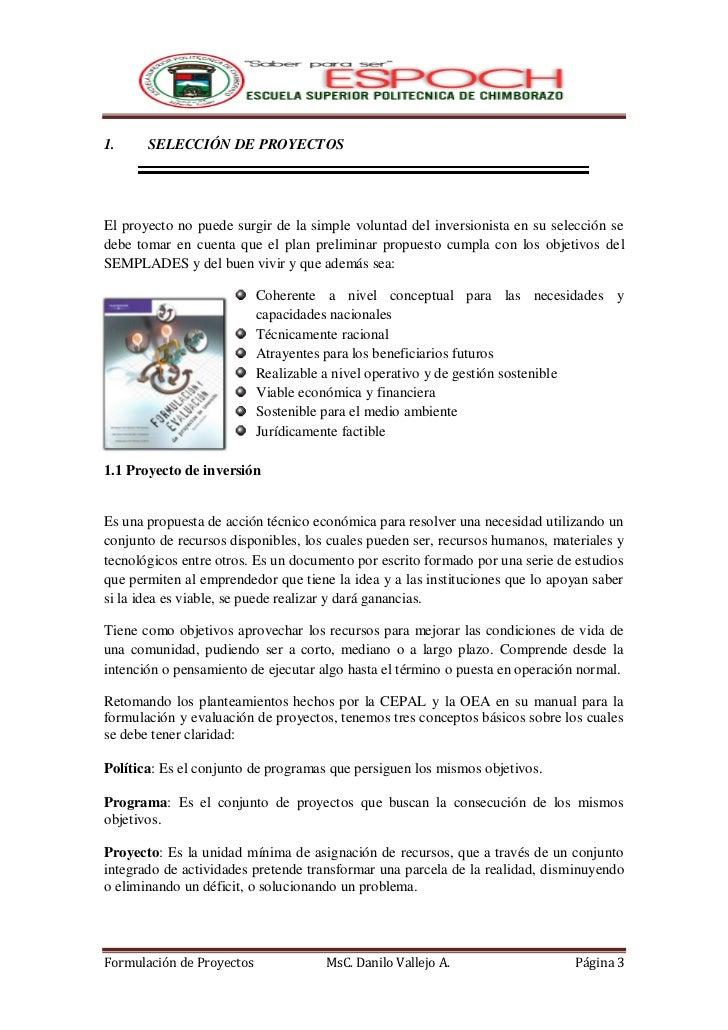 FORMULACION DE PROYECTOS  Slide 3