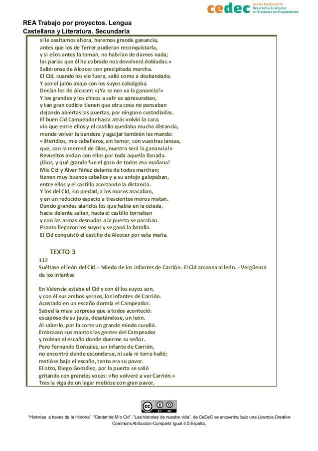 REA Trabajo por proyectos. Lengua Castellana y Literatura. Secundaria si le asaltamos ahora, haremos grande ganancia, ante...