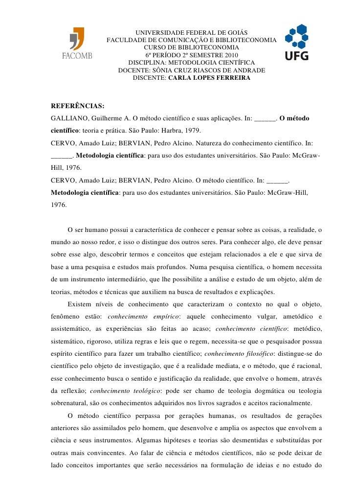 UNIVERSIDADE FEDERAL DE GOIÁS                      FACULDADE DE COMUNICAÇÃO E BIBLIOTECONOMIA                             ...