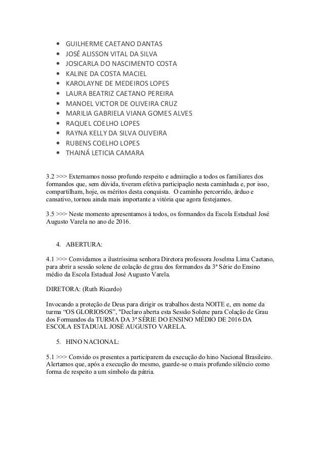 Texto Cerimonia Formatura 2016