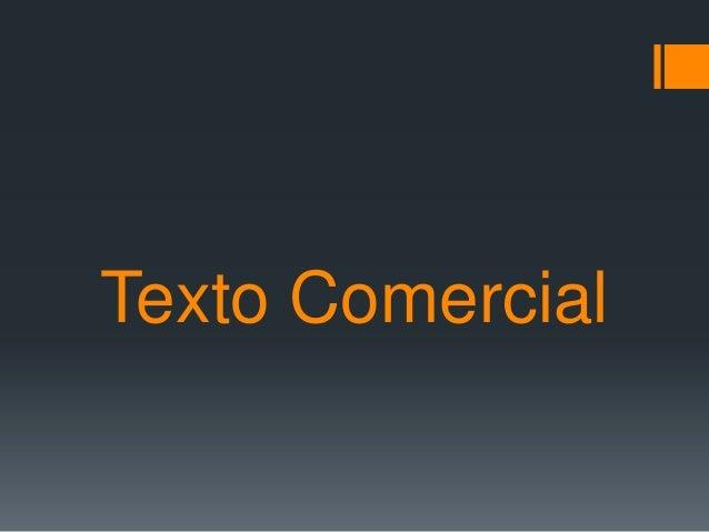 Texto Comercial