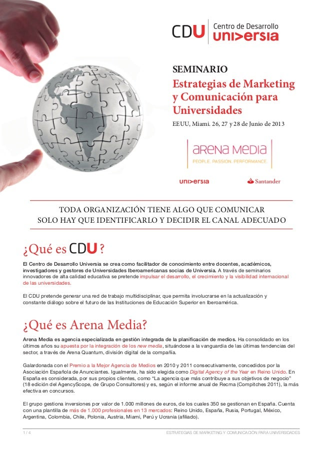 SEMINARIO                                                                  Estrategias de Marketing                       ...