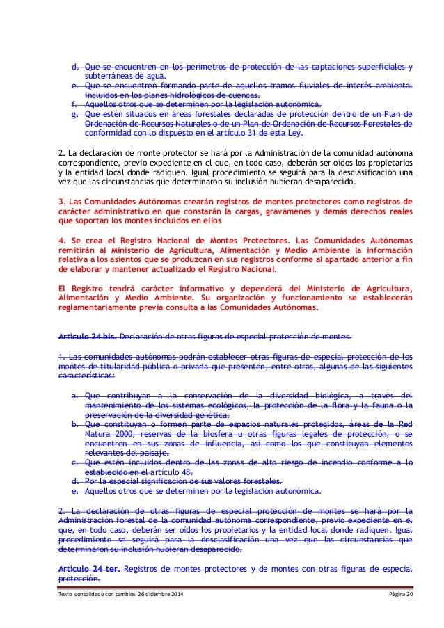 Texto consolidado con cambios 26 diciembre 2014 Página 20 d. Que se encuentren en los perímetros de protección de las capt...