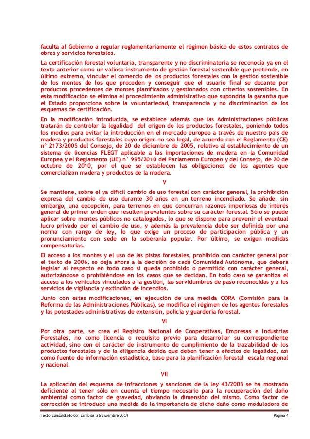 Texto consolidado con cambios 26 diciembre 2014 Página 4 faculta al Gobierno a regular reglamentariamente el régimen básic...