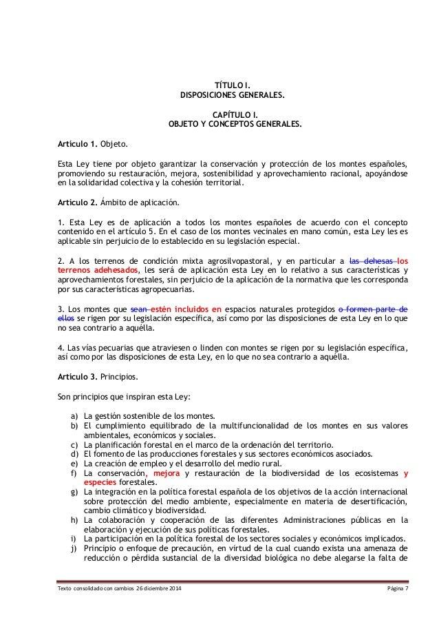 Texto consolidado con cambios 26 diciembre 2014 Página 7 TÍTULO I. DISPOSICIONES GENERALES. CAPÍTULO I. OBJETO Y CONCEPTOS...