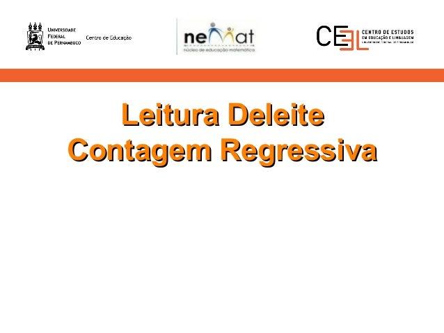 Leitura DeleiteLeitura Deleite Contagem RegressivaContagem Regressiva