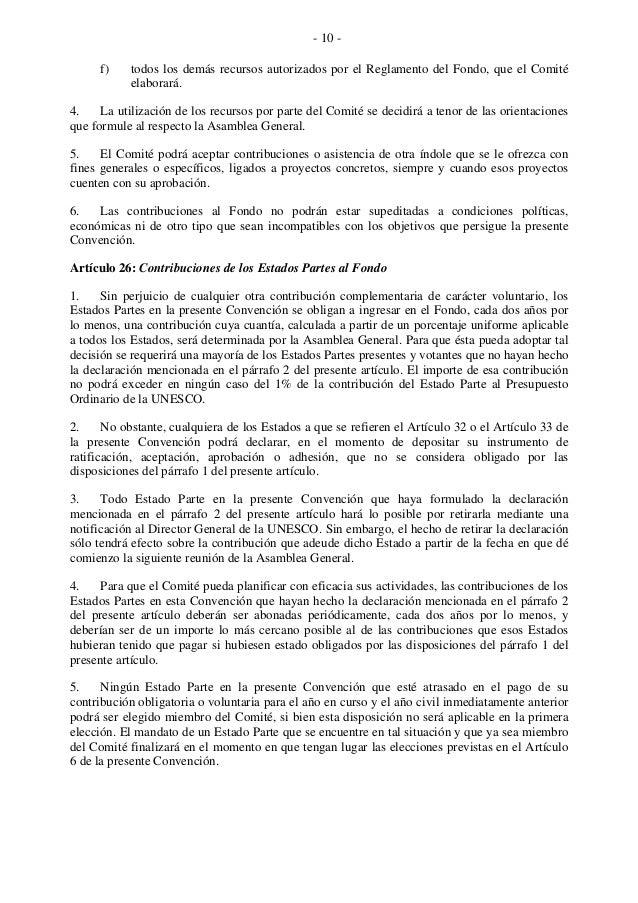 - 10 - f) todos los demás recursos autorizados por el Reglamento del Fondo, que el Comité elaborará. 4. La utilización de ...
