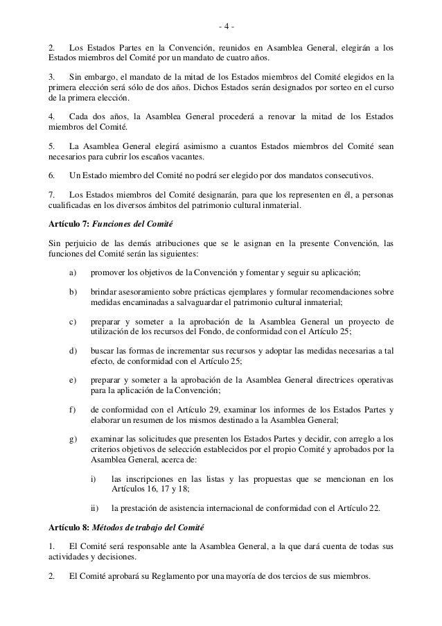 - 4 - 2. Los Estados Partes en la Convención, reunidos en Asamblea General, elegirán a los Estados miembros del Comité por...