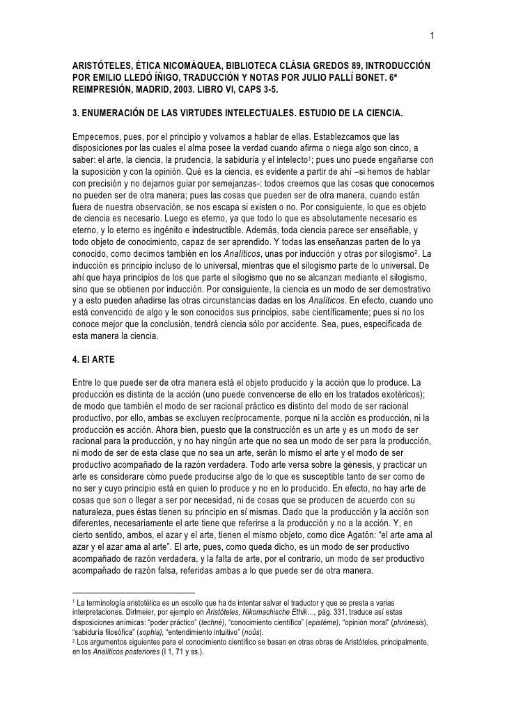 1ARISTÓTELES, ÉTICA NICOMÁQUEA, BIBLIOTECA CLÁSIA GREDOS 89, INTRODUCCIÓNPOR EMILIO LLEDÓ ÍÑIGO, TRADUCCIÓN Y NOTAS POR JU...