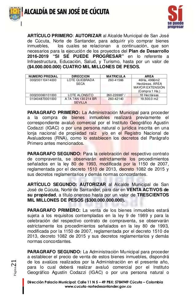 Texto del acuerdo cambio uso de suelo y venta activos del for 4 usos del suelo en colombia