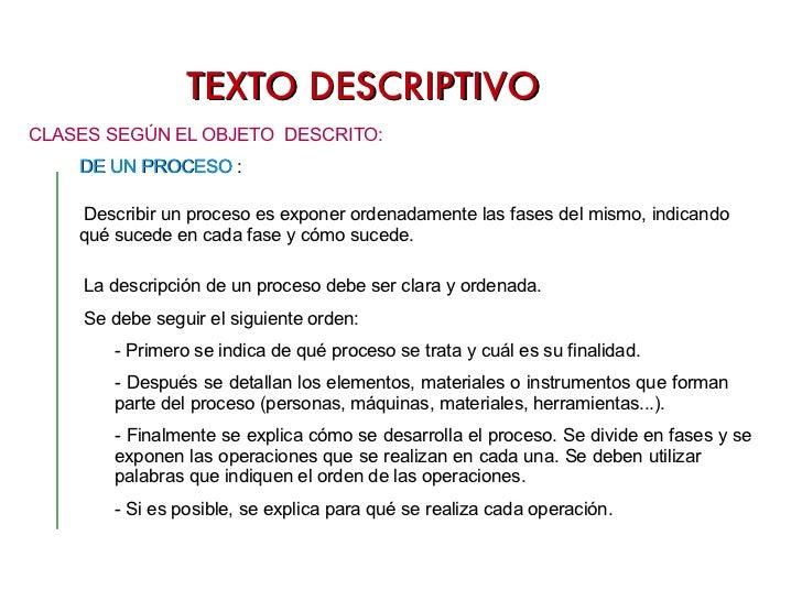 TEXTO DESCRIPTIVO DE ÉPOCA  :  CRONOGRAFÍA <ul><li>CLASES SEGÚN EL OBJETO  DESCRITO: </li></ul>