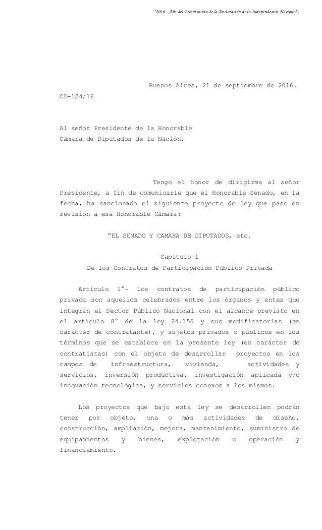 """""""2016 - Año del Bicentenario de la Declaración de la Independencia Nacional'. Buenos Aires, 21 de septiembre de 2016. CD-1..."""