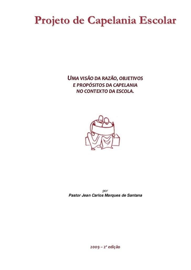 Texto do projeto de capelania escolar 2ª edição