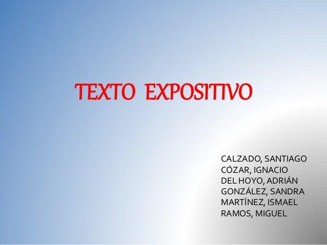 TEXTO EXPOSITIVO CALZADO, SANTIAGO CÓZAR, IGNACIO DEL HOYO,ADRIÁN GONZÁLEZ, SANDRA MARTÍNEZ, ISMAEL RAMOS, MIGUEL