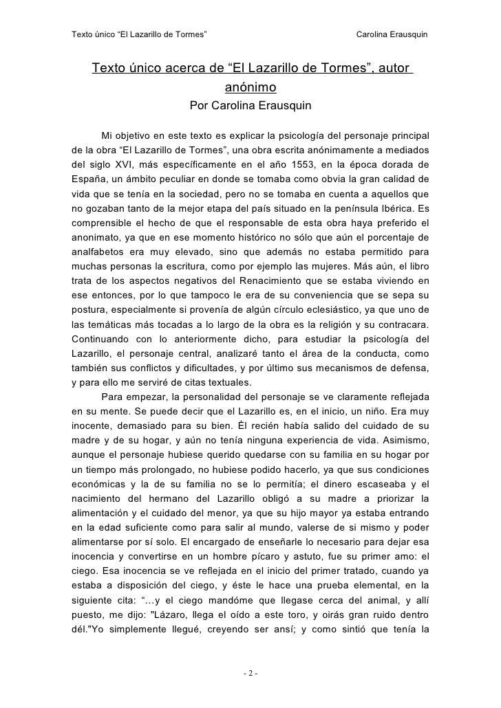 Texto Lazarillo De Tormes