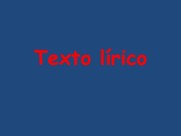 Texto lírico