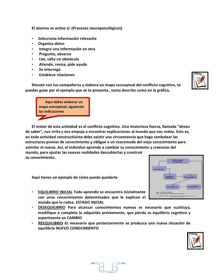 El alumno es activo si: (Procesos neuropsicológicos)     •   Selecciona información relevante    •   Organiza datos    •  ...