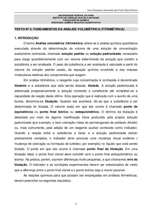 Texto Revisado e Atualizado pela Profa. Marta Pinheiro1UNIVERSIDADE FEDERAL DO PARÁINSTITUTO DE CIÊNCIAS EXATAS E NATURAIS...