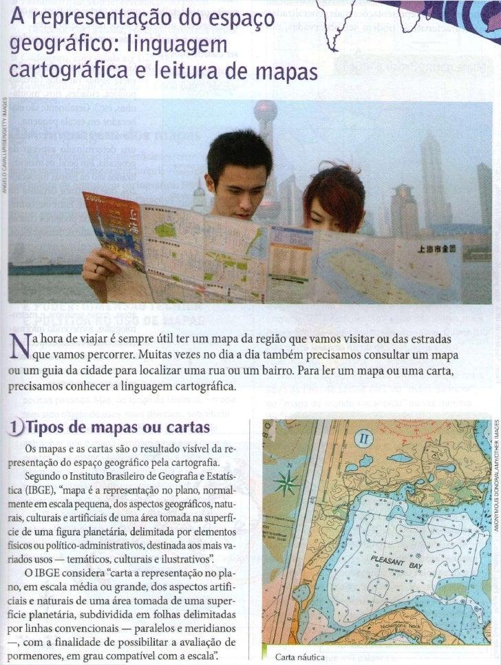 A representação do espaçogeográfico: linguagemcartográfica e leitura de mapasN     a hora de viajar é sempre útil ter u m ...