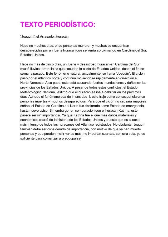 """TEXTOPERIODÍSTICO:  """"Joaquín"""",elArrasadorHuracán  Hacenomuchosdías,oncepersonasmurieronymuchasseencuentr..."""
