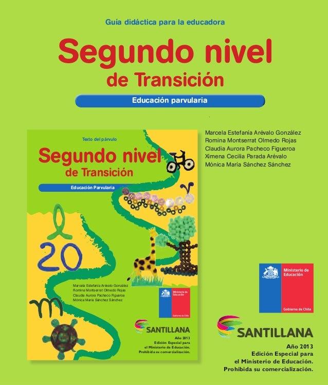 Texto del párvulo Educación ParvulariaEducación Parvularia de Transición Año 2013 Edición Especial para el Ministerio de E...