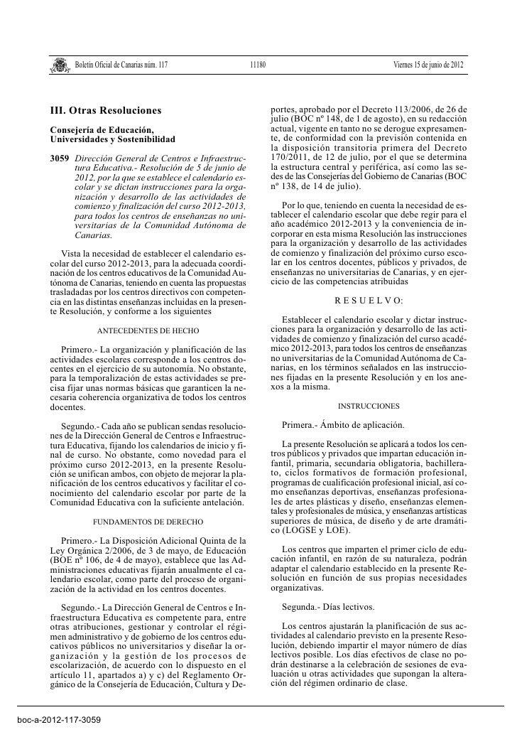 Boletín Oficial de Canarias núm. 117               11180                                      Viernes 15 de junio de 2012 ...