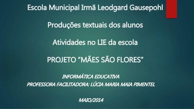 Escola Municipal Irmã Leodgard Gausepohl Produções