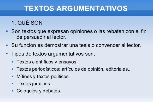 Resultado de imagen de textos argumentativos
