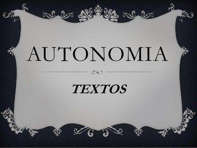 AUTONOMIA  TEXTOS