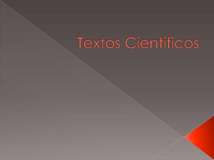Textos Científicos<br />
