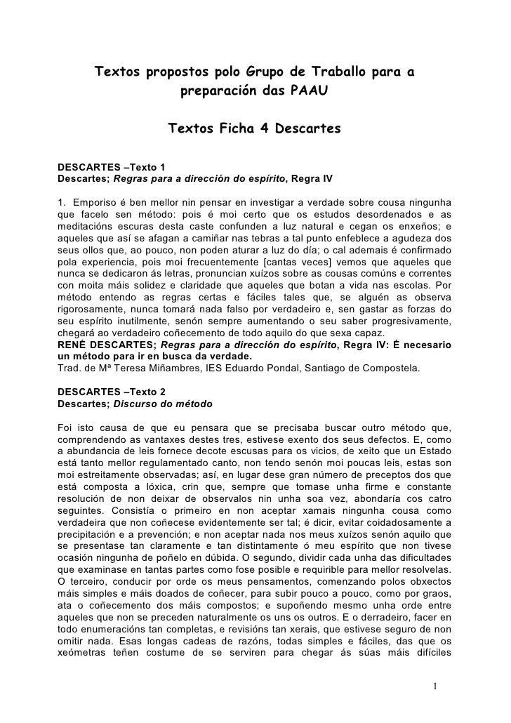 Textos propostos polo Grupo de Traballo para a                   preparación das PAAU                       Textos Ficha 4...