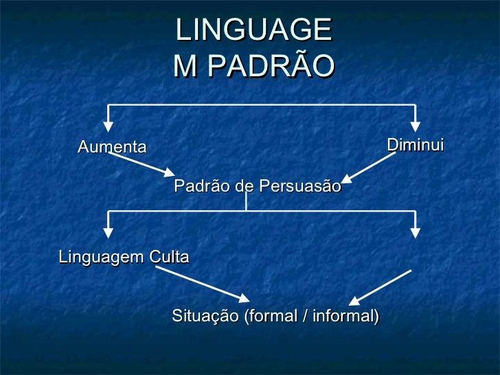 LINGUAGE            M PADRÃO  Aumenta                                  Diminui             Padrão de PersuasãoLinguagem Cu...