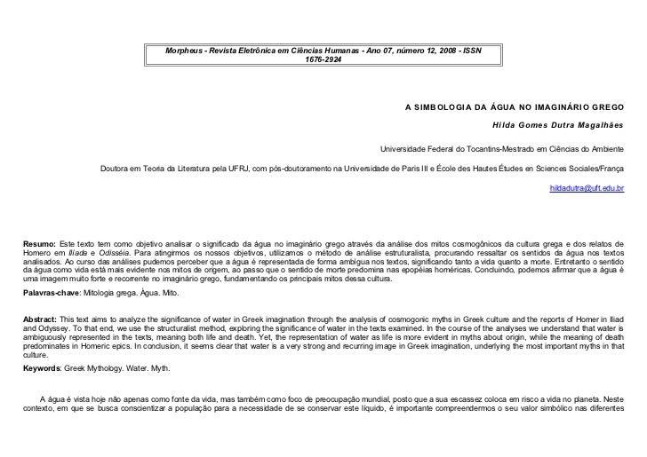 Morpheus - Revista Eletrônica em Ciências Humanas - Ano 07, número 12, 2008 - ISSN                                        ...