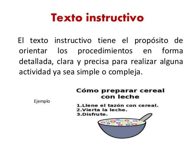 Resultado de imagen para los textos instructivos ejemplos