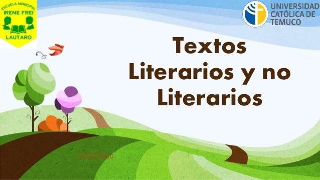 Textos  Literarios y no  Literarios  Subtítulo