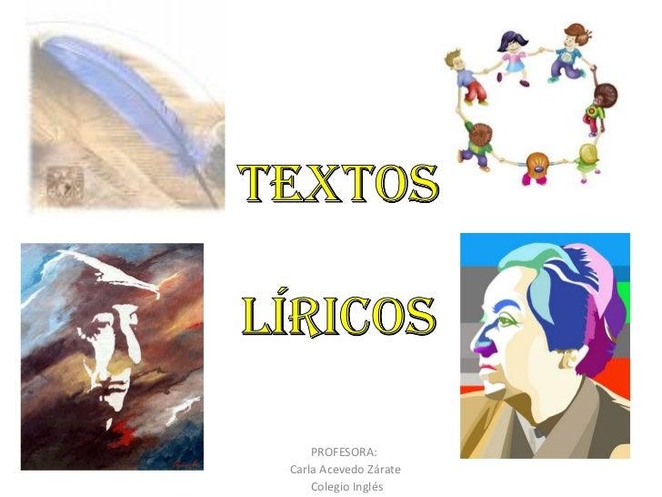 PROFESORA:  Carla Acevedo Zárate Colegio Inglés