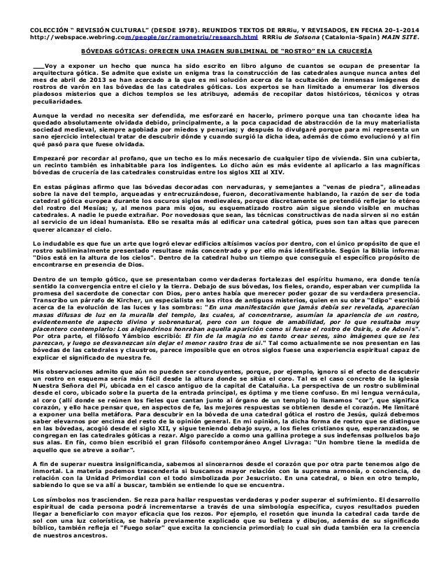 """COLECCIÓN """" REVISIÓN CULTURAL"""" (DESDE 1978). REUNIDOS TEXTOS DE RRRiu, Y REVISADOS, EN FECHA 20-1-2014 http://webspace.web..."""