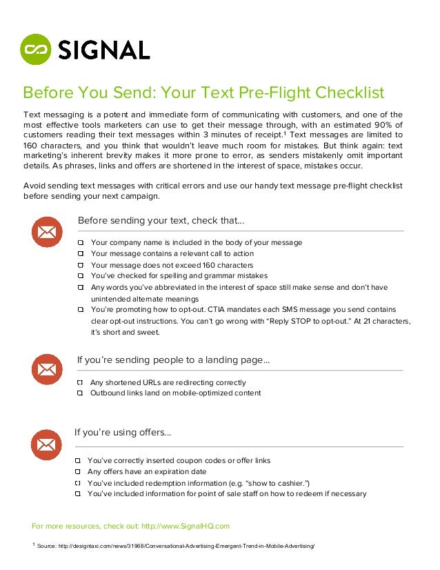 Before You Send: Your Text Pre-Flight ChecklistText messaging is a potent and immediate form of communicating with custome...