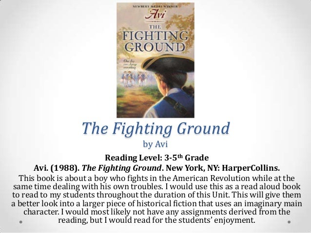 Image result for the fighting ground by avi summary