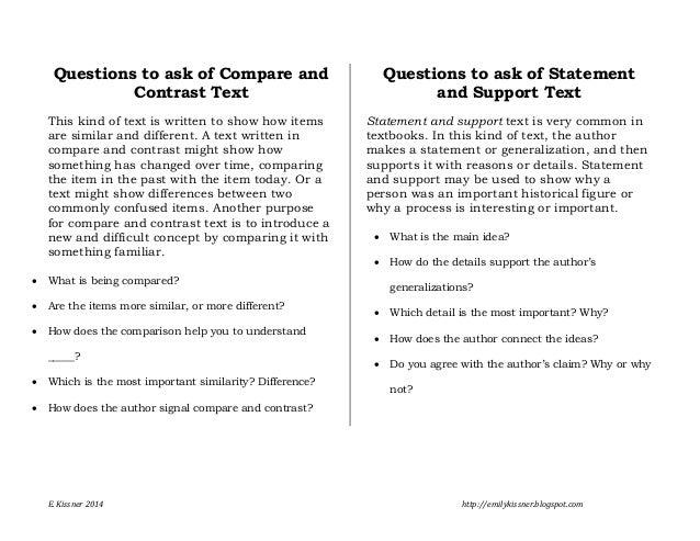 How to write a good comparison essay