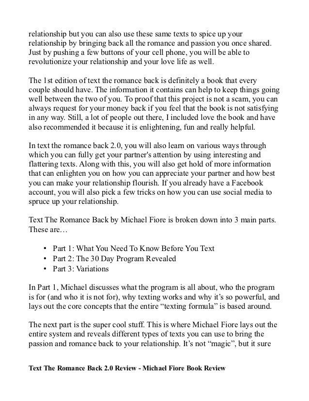 michael fiore text the romance back pdf