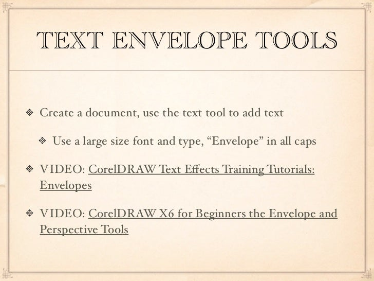 Text tools for CorelDRAW X6