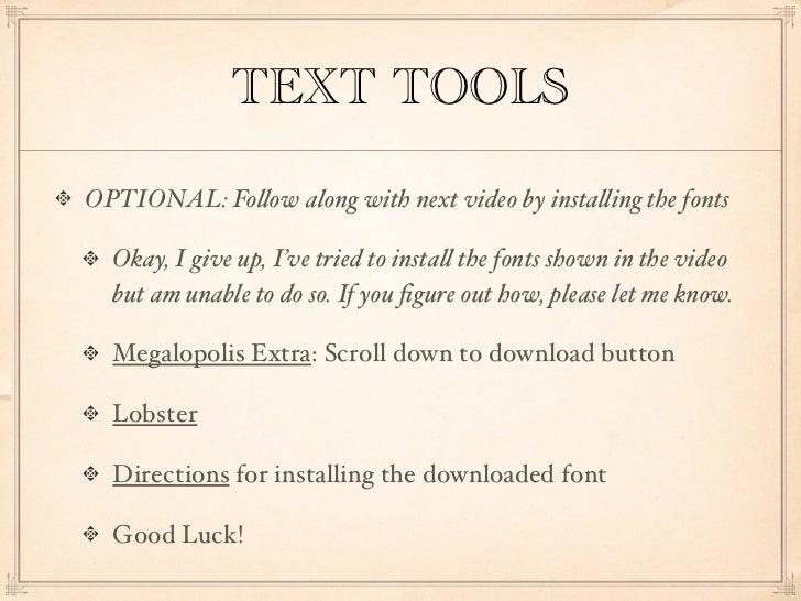 Text tools for CorelDRAW X6